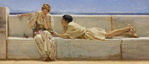 Sir-Lawrence-Alma-Tadema-Una-domanda-1877-olio-su-tavola523
